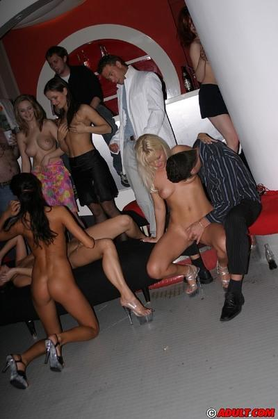 Stunning MILFs have some hardcore fun at the wild groupsex party
