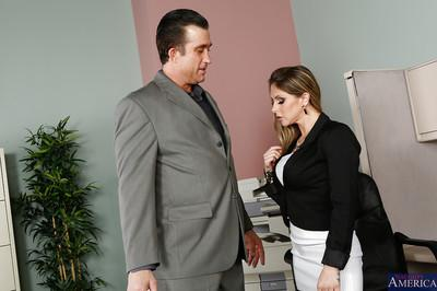 Caring milf Rachel Roxxx excites her boss with her blowjob skills