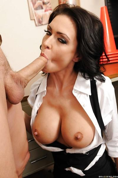 Sexy MILF teacher with fabulous boobs Jessica Jaymes fucked and jizzed