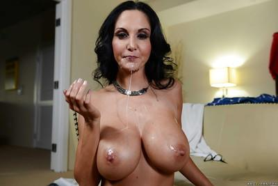 Fabulous brunette Ava Addams has her boobies fucked with a cock