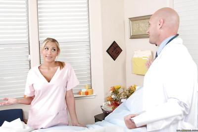 Busty MILF in nurse uniform Alanah Rae fucked by her horny patient