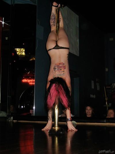 Clothed amateur milf Joanna Angel dose a sexy striptease dance