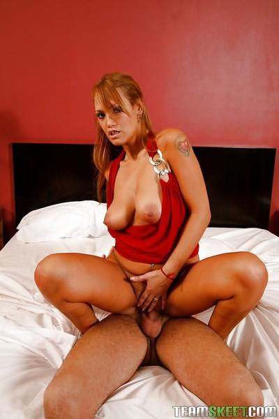Sexy latina with shaved cunt Vicky Reyes gets fucked and facialized