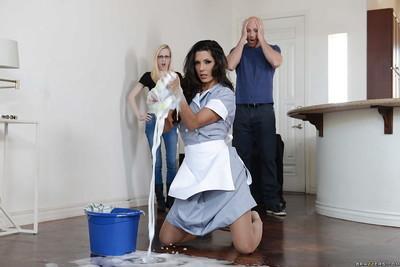 Amazing Latina maid Alexa Tomas bends over and gets a cock hard