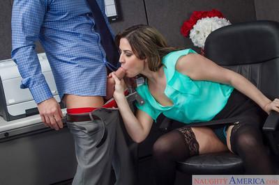 Office milf Addie Juniper is licking this amazing dickhead on cam