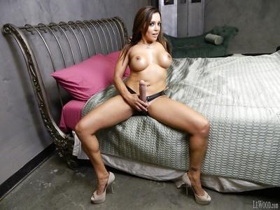 Latina pornstar Francesca Le shows off her milf big tits and ass