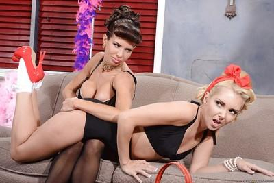 Glamorous MILF has some anal fun with her younger lesbian friend