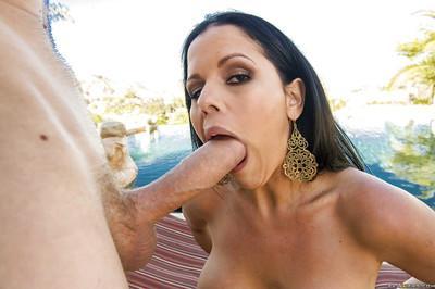 Latina anal slut Diamond Kitty blows and fucks a huge boner
