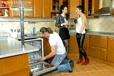 Amadea Emily & Gabrielle Gucci are into fully clothed groupsex