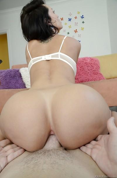 Busty latina Franceska Jaimes gets her asshole licked and drilled hardcore