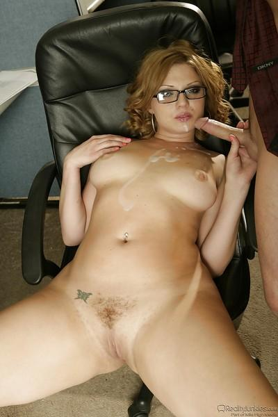 Chubby MILF in glasses Ava Rose gets her pussy banged hardcore