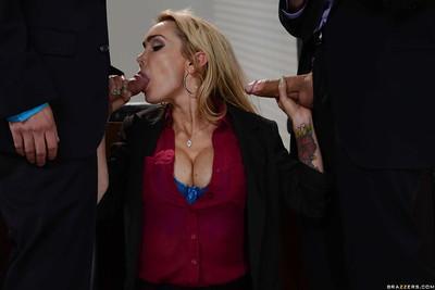 Dick loving blonde MILF Devon having fun with a throbbing hard cock