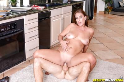 Chesty MILF Skyler getting both asshole and shaved pussy licked
