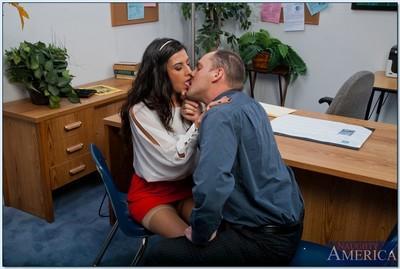 Stunning brunette MILF Lou Charmelle gets fucked hardcore in the office