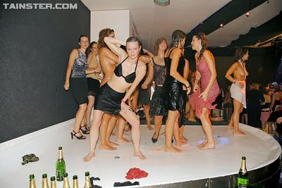 Lewd MILFs with tempting curves enjoy a wild sex orgy at the wet party