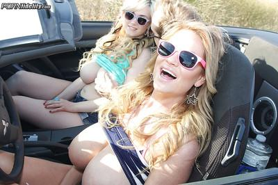 Groupsex scene features a big tits blonde milf Siri and her friends