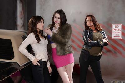 All girl lesbian threesome with Addison Ryder, Tory Lane and Vera Drake