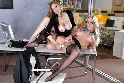 Two glamorous lesbians Julia Ann and Olivia Austin are screwing