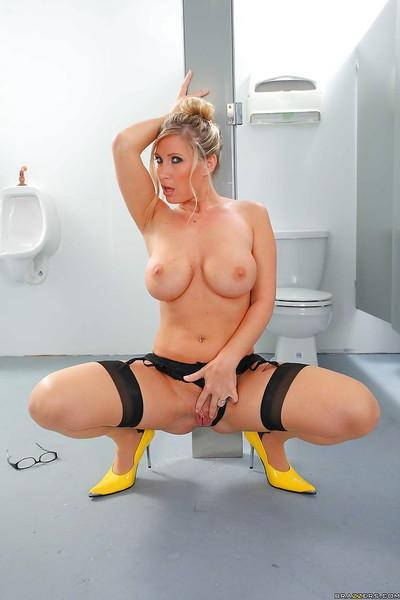 Hot teacher MILF Devon Lee with big tits is stripping in the bath