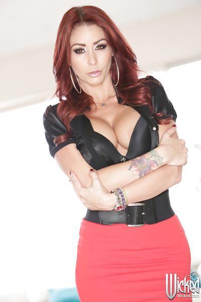 Milf pornstar Monique Alexander shows off in a sexy lingerie