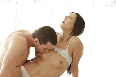 Hot Latina mom Alexa Tomas taking cock in tight asshole after oral sex