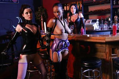 Smoking hot babes with big tits make some femdom lesbian action