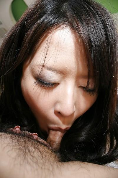 Lustful asian MILF gives a nooky and gets her hairy twat boned-up