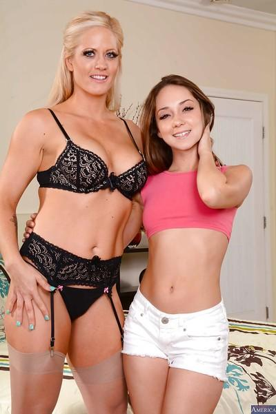 Lesbian milf Holly Heart teaches Remy LaCroix how to have sex