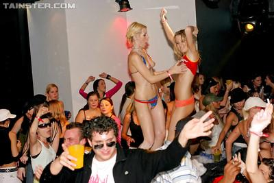 Lascivious MILFs are into hardcore orgy at the drunk party