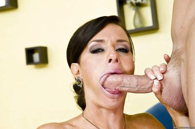 Hot MILF in stockings Veronica Avluv gets her pussy licked and fucked hardcore