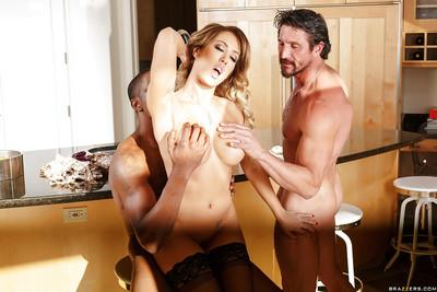 Gorgeous milf wife Capri Cavanni gets boinked in interracial scene