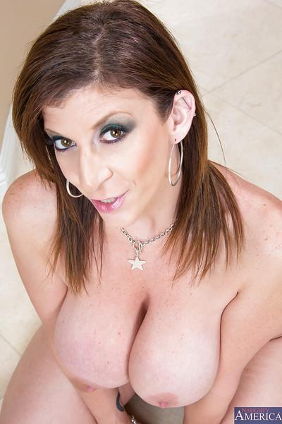 Crazy big ass milf Sara gets lots of attention because she is naked