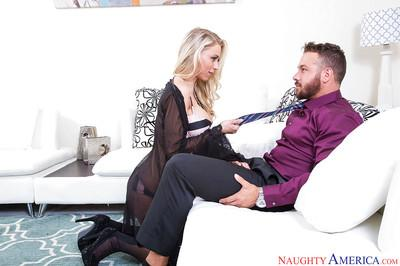 Blonde MILF pornstar Katie Morgan getting fucked by real life husband