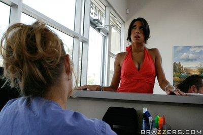 Fervent latina MILF Kayla Carrera got her shaved cunt fucked hard