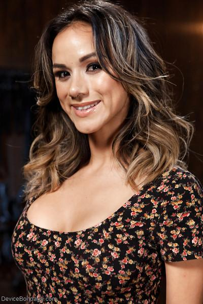Busty Latina MILF Nadia Styles undergoes hardcore device bondage training