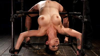 Busty Latina MILF Nadia Styles undergoes hardcore device bondage training