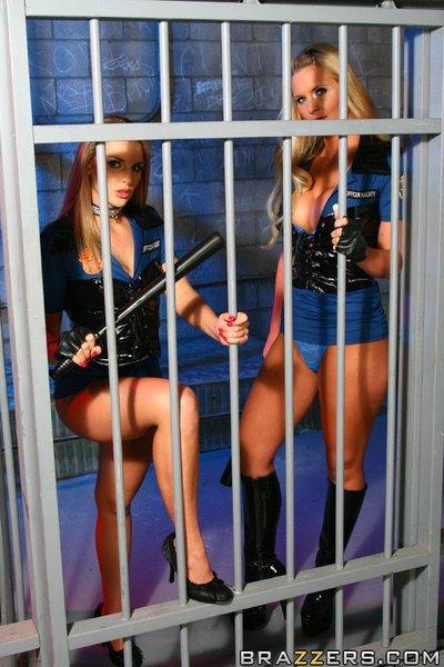 MILFs Phoenix Marie and Brianna Love play lesbian games in uniform