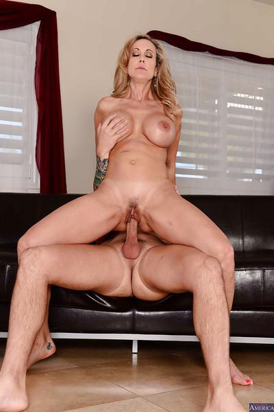 Brandi Love showing her love and giving the most eye-catching blowjob