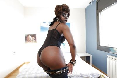 Ebony milf Jasmine Webb feels very hungry in this sexy uniform