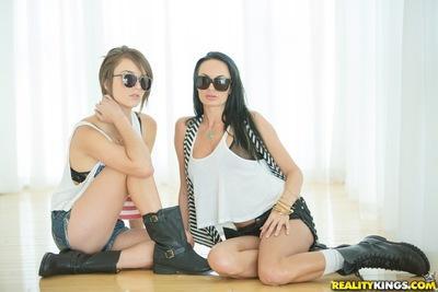 Big tits lesbians Alektra Blue and Malena Morgan having some fun