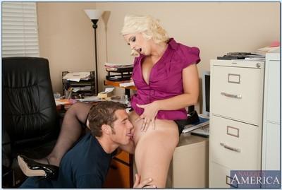 Busty milf fuck scene featuring office hoochie Mandy Sweet