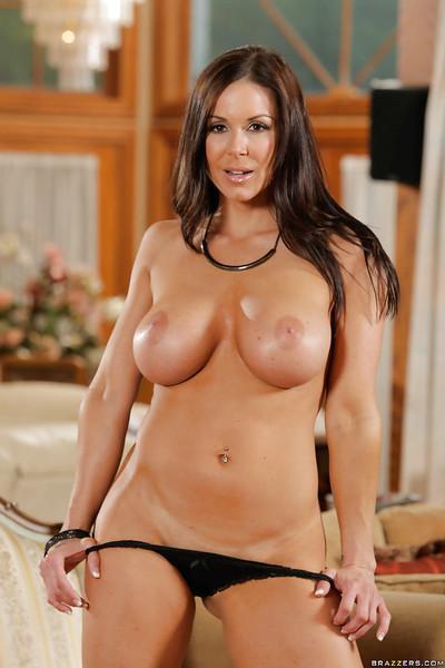 Milf babe Kendra Lust is showing off in her favorite panties