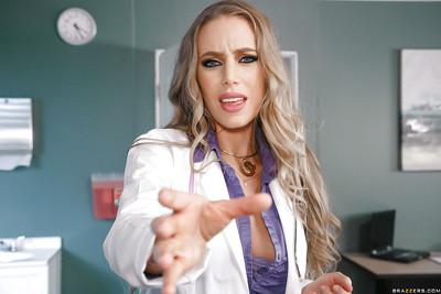 Pornstar Anna Bell Peaks and horny girlfriends star in reverse gangbang