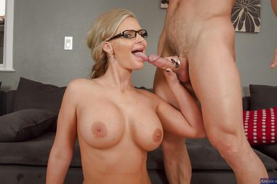 Phoenix Marie fuck with her amateur boss and get cum on the face