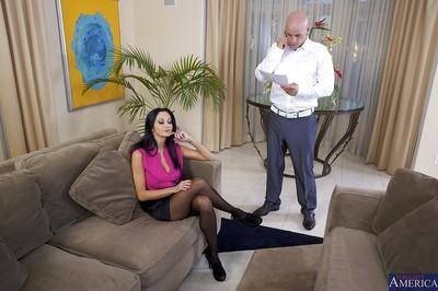 Beautiful milf wife Ava Addams suck big hard dick of her lover
