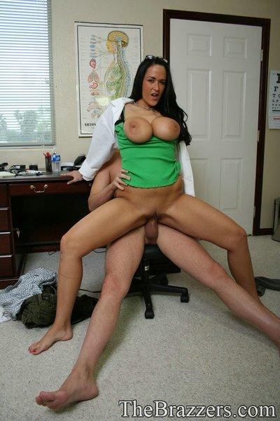Chubby babe with huge boobs Carmella Bing has wild sex in uniform
