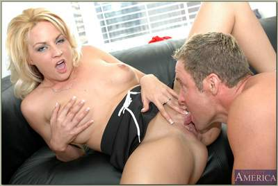 Sexy MILF Sindy Lange revealing shapely hooters and fucks passionately