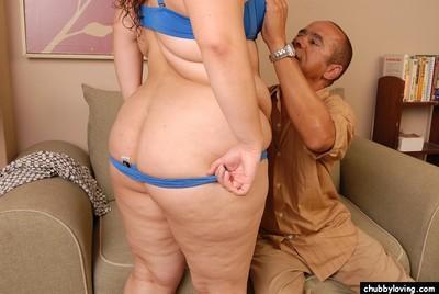 SSBBW Vanessa rolling underwear over big fat Latina booty