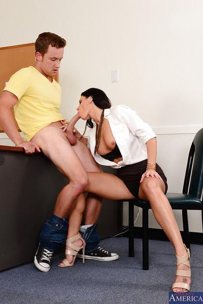Wild pornstar India Summer gets nailed hard right on the table