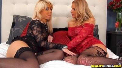Two amazing lesbians Brianna Ray and Loren Nicole getting dirty